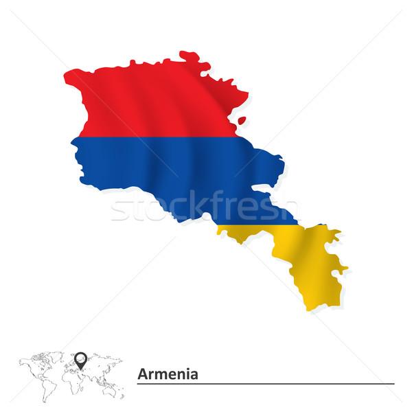 地図 アルメニア フラグ デザイン 世界 にログイン ストックフォト © ojal