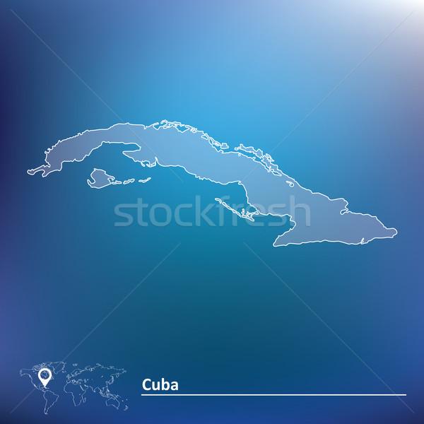 Mappa Cuba texture sfondo arte segno Foto d'archivio © ojal