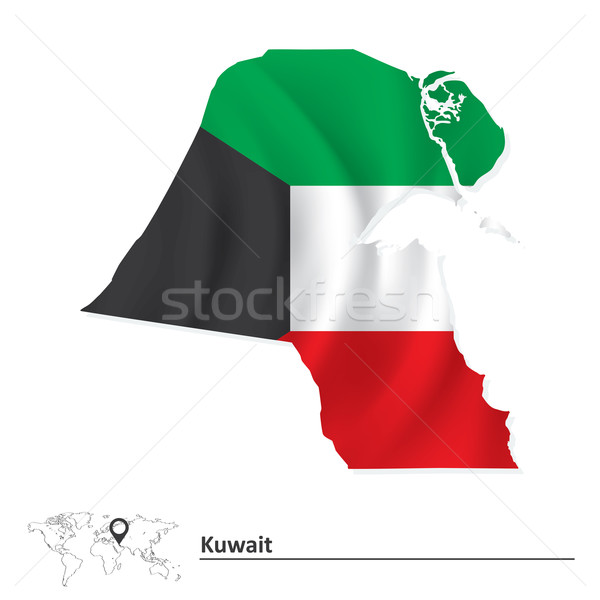 карта Кувейт флаг текстуры искусства знак Сток-фото © ojal