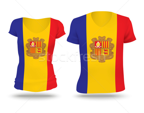 Flag shirt design of Andorra Stock photo © ojal