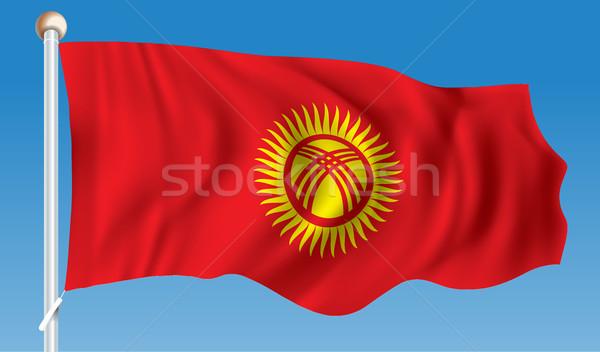 Bayrak Kırgızistan doku güneş dizayn arka plan Stok fotoğraf © ojal