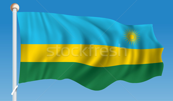 Flag of Rwanda Stock photo © ojal
