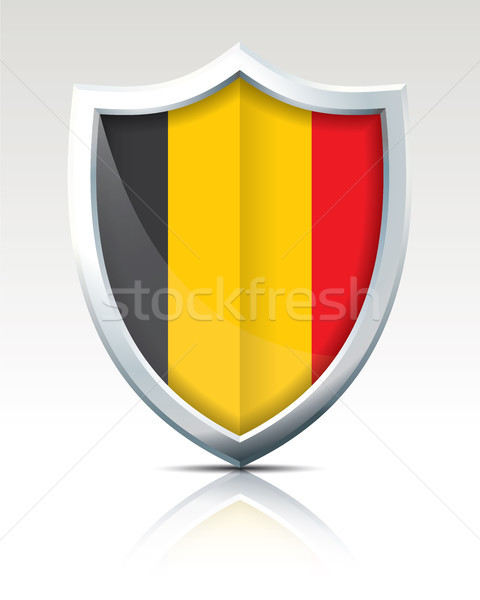 Shield with Flag of Belgium Stock photo © ojal