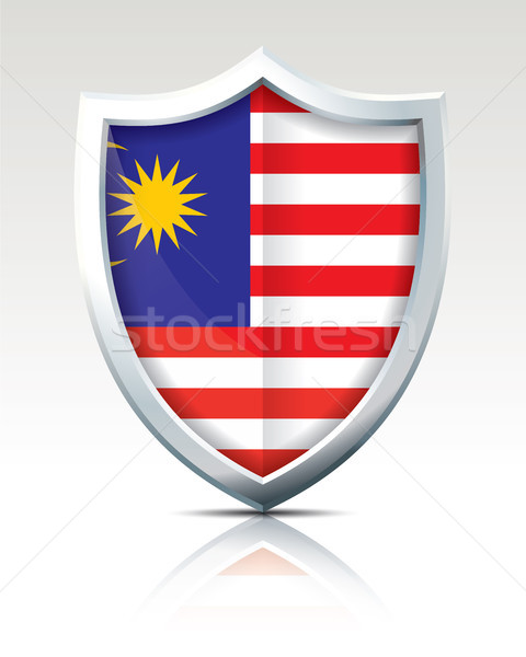 Shield with Flag of Malaysia Stock photo © ojal