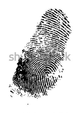 Stok fotoğraf: Parmak · baskı · alfabe · dizayn · boya · imzalamak