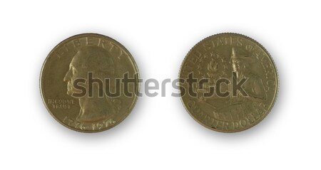 isolated two sides of an ancient circular money Stock photo © ojal