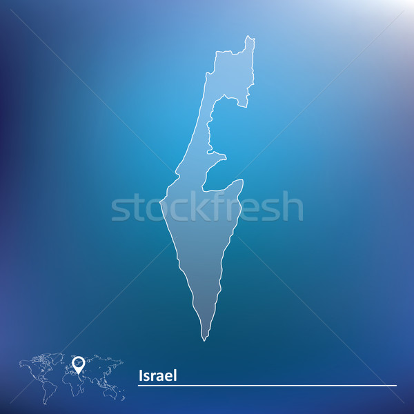 Map of Israel Stock photo © ojal