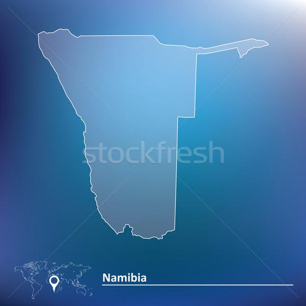 карта Намибия текстуры солнце дизайна знак Сток-фото © ojal