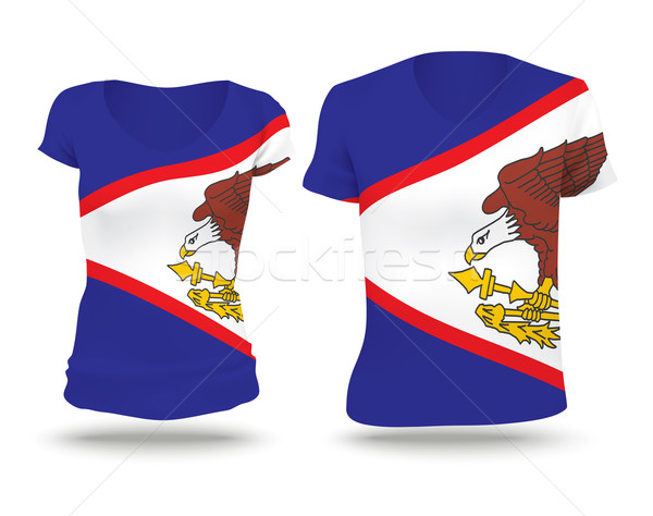Bandeira camisas projeto Samoa Americana mulher homem Foto stock © ojal