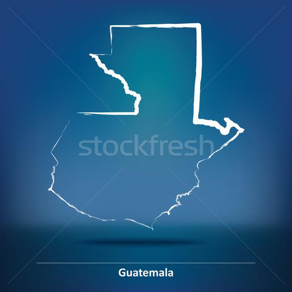 Doodle Map of Guatemala Stock photo © ojal