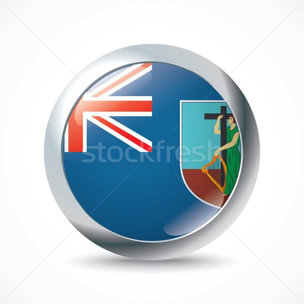 Montserrat flag button Stock photo © ojal