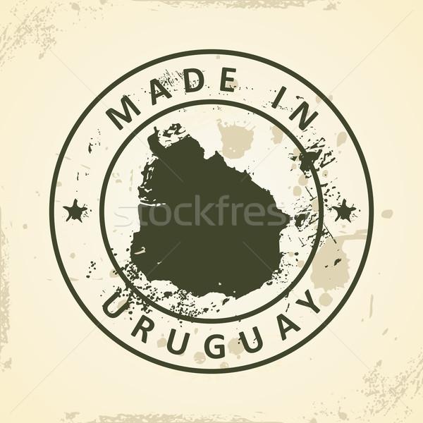 штампа карта Уругвай Гранж текстуры город Сток-фото © ojal