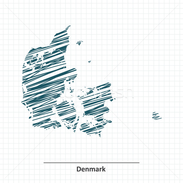Doodle sketch of Denmark map Stock photo © ojal