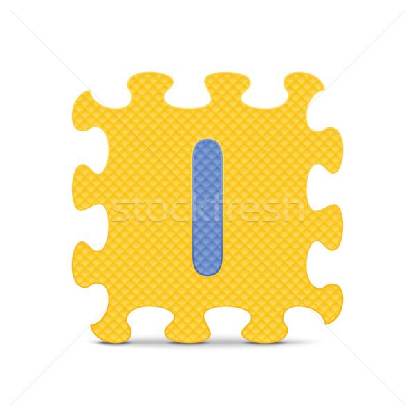 Vector letter i geschreven alfabet puzzel business Stockfoto © ojal