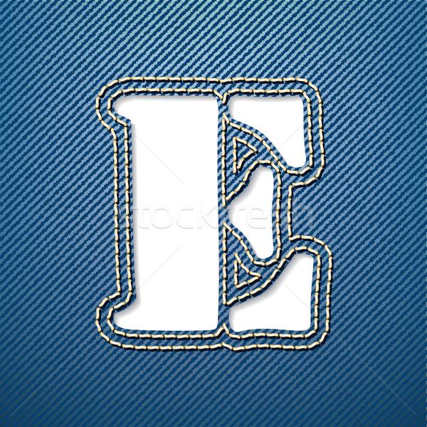 Denim jeans letter E Stock photo © ojal