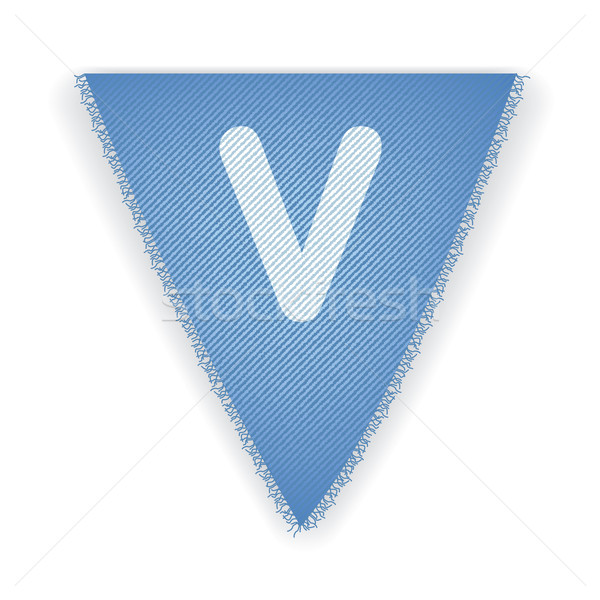 Bunting flag letter V Stock photo © ojal