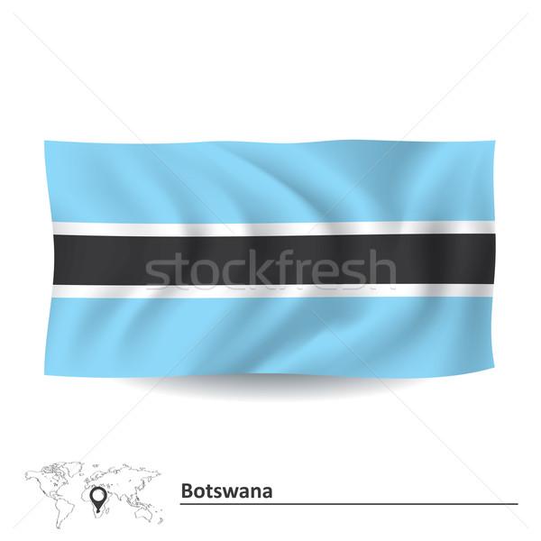 Banderą Botswana tle podróży sylwetka cyfrowe Zdjęcia stock © ojal