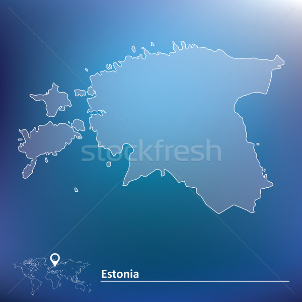 Map of Estonia Stock photo © ojal