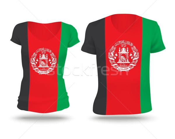 Bayrak gömlek dizayn Afganistan kadın adam Stok fotoğraf © ojal