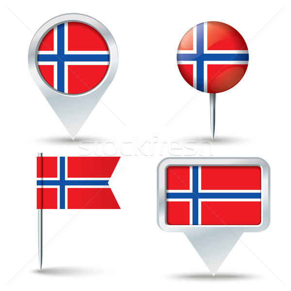 Map pins with flag of Svalbard Stock photo © ojal