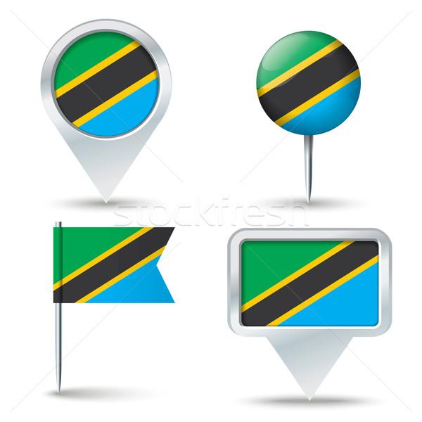 Kaart vlag Tanzania business weg witte Stockfoto © ojal