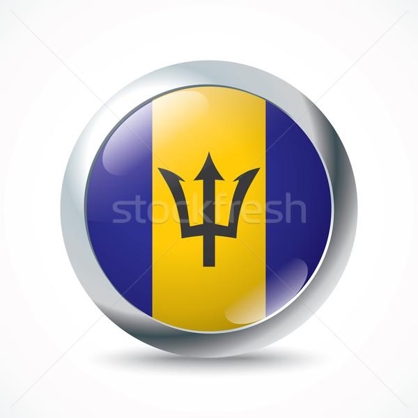 Barbados vlag knop textuur wereld achtergrond Stockfoto © ojal