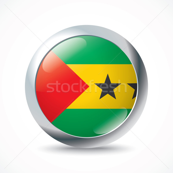 Sao Tome and Principe flag button Stock photo © ojal