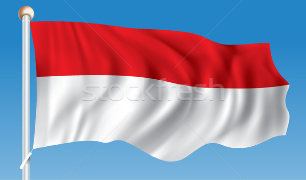 Bayrak Endonezya seyahat siluet dijital profil Stok fotoğraf © ojal