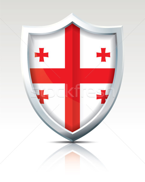 Shield with Flag of Georgia Stock photo © ojal