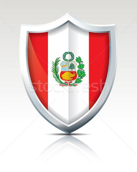 Escudo bandeira Peru textura abstrato fundo Foto stock © ojal