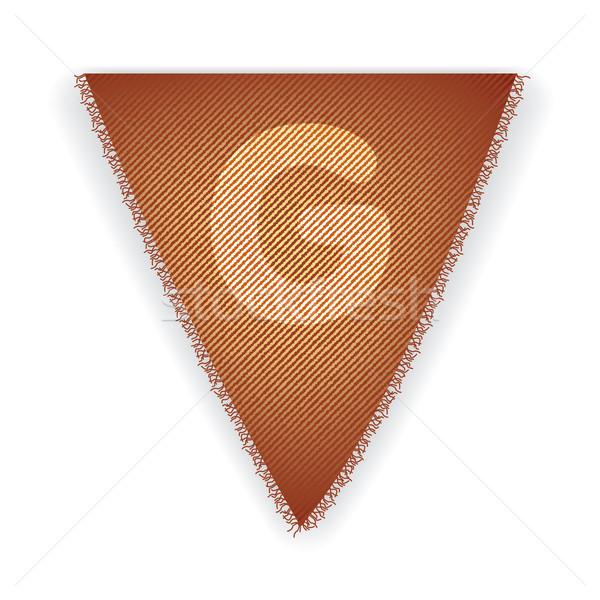 Bunting flag letter G Stock photo © ojal