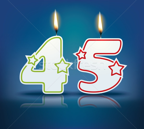 Birthday candle number 45 Stock photo © ojal