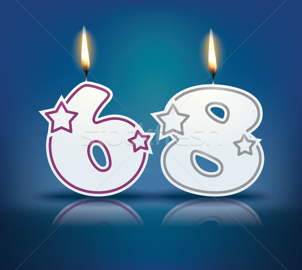 Birthday candle number 68 Stock photo © ojal