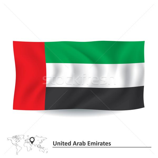 флаг Объединенные Арабские Эмираты текстуры фон ветер стране Сток-фото © ojal