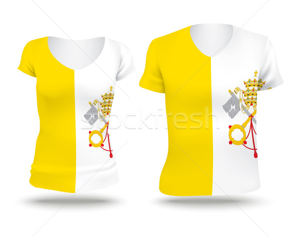 флаг рубашку дизайна святой см. Ватикан Сток-фото © ojal