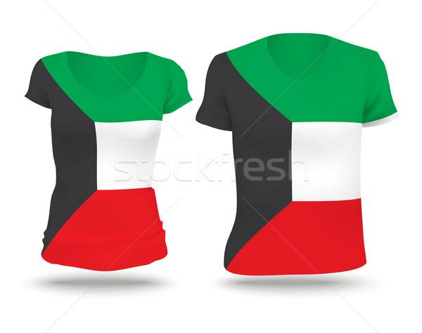 Foto d'archivio: Bandiera · shirt · design · Kuwait · donna · uomo