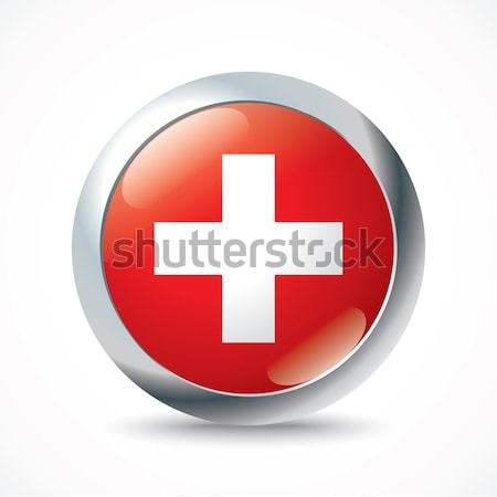 Switzerland flag button Stock photo © ojal