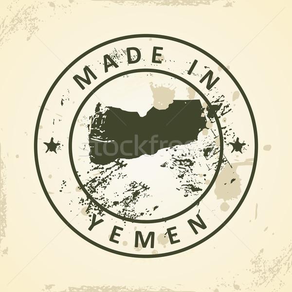Stempel kaart Jemen grunge textuur wereld Stockfoto © ojal