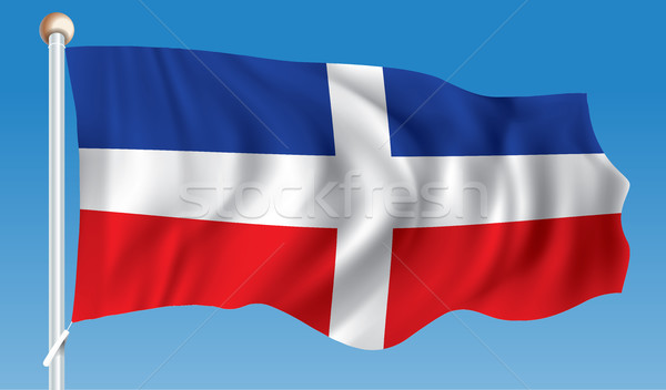 Flag of Dominican Republic Stock photo © ojal