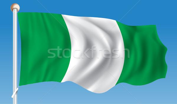 Bandeira Nigéria textura projeto verde África Foto stock © ojal