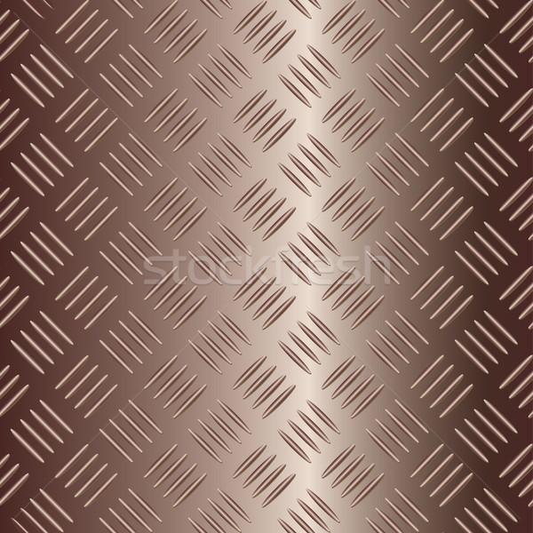 brownish vector metal plate Stock photo © ojal
