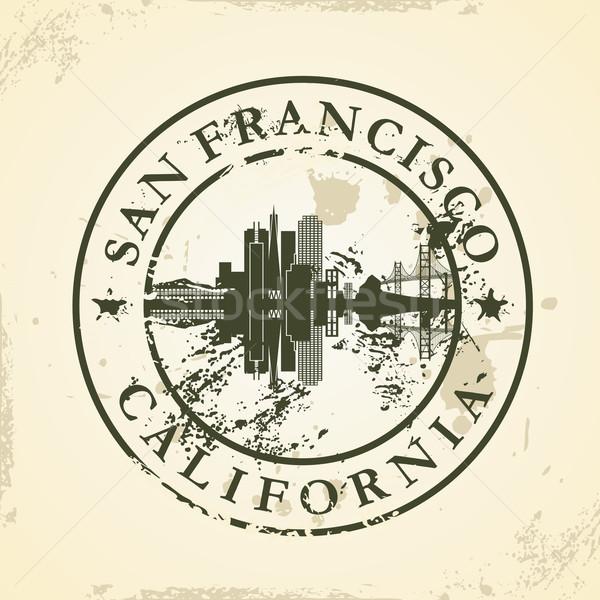 Foto stock: Grunge · San · Francisco · Califórnia · cidade · viajar