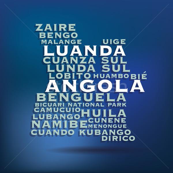 Ангола карта название текстуры дизайна Сток-фото © ojal