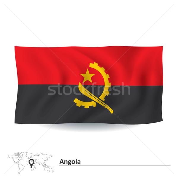 флаг Ангола Мир путешествия диаграммы стране Сток-фото © ojal