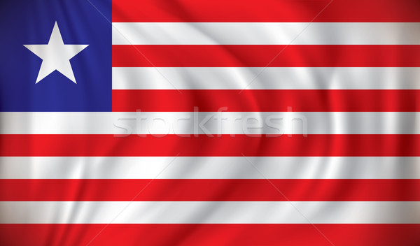 Flag of Liberia Stock photo © ojal