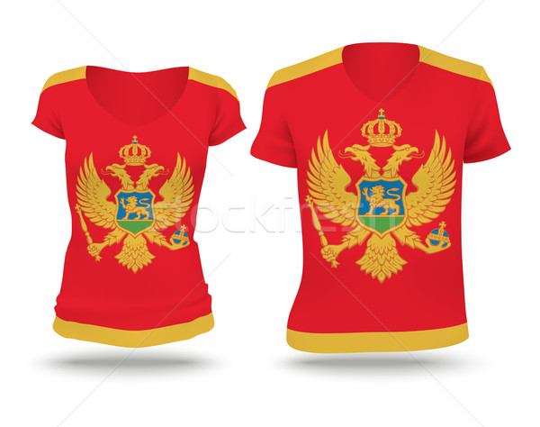 Vlag shirt ontwerp Montenegro man vrouwen Stockfoto © ojal