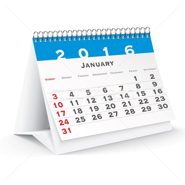 January 2016 desk calendar Stock photo © ojal
