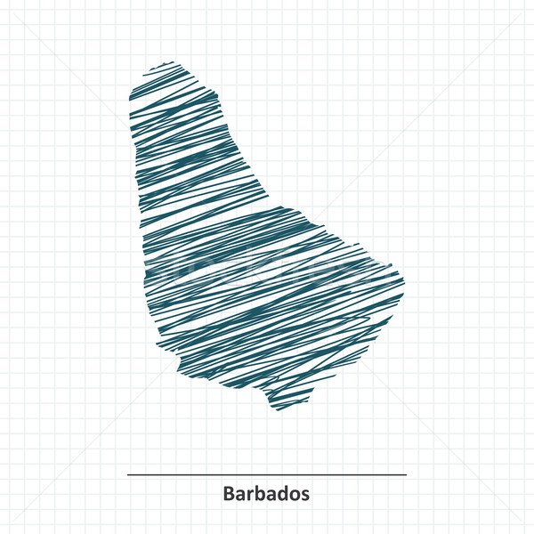 Doodle sketch of Barbados map Stock photo © ojal