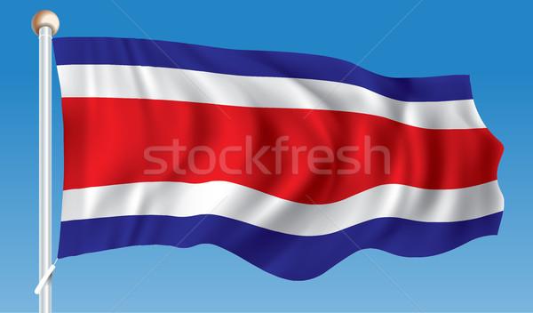 Flag of Costa Rica Stock photo © ojal