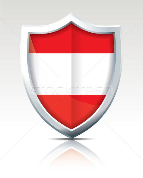 Escudo bandeira Áustria textura mapa abstrato Foto stock © ojal